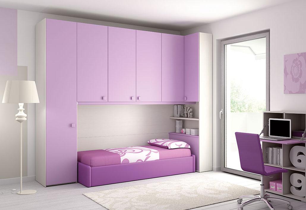 Camerette moretticompact kp108 rosy mobili mobilificio - Camerette piccole soluzioni ...