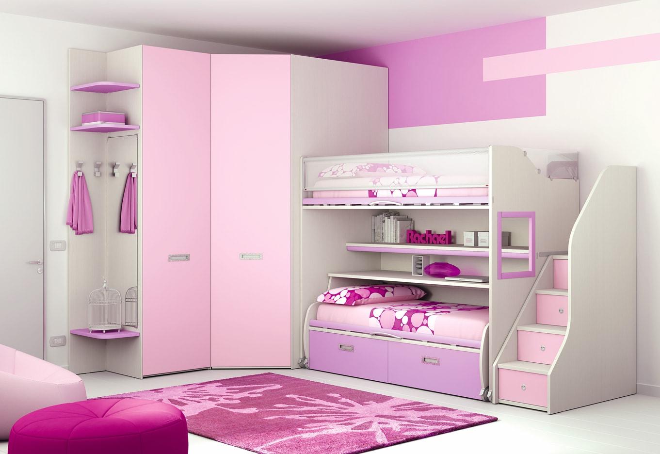 Camerette Per Neonati Rosa : Camerette rosy mobili mobilificio nichelino torino lube store