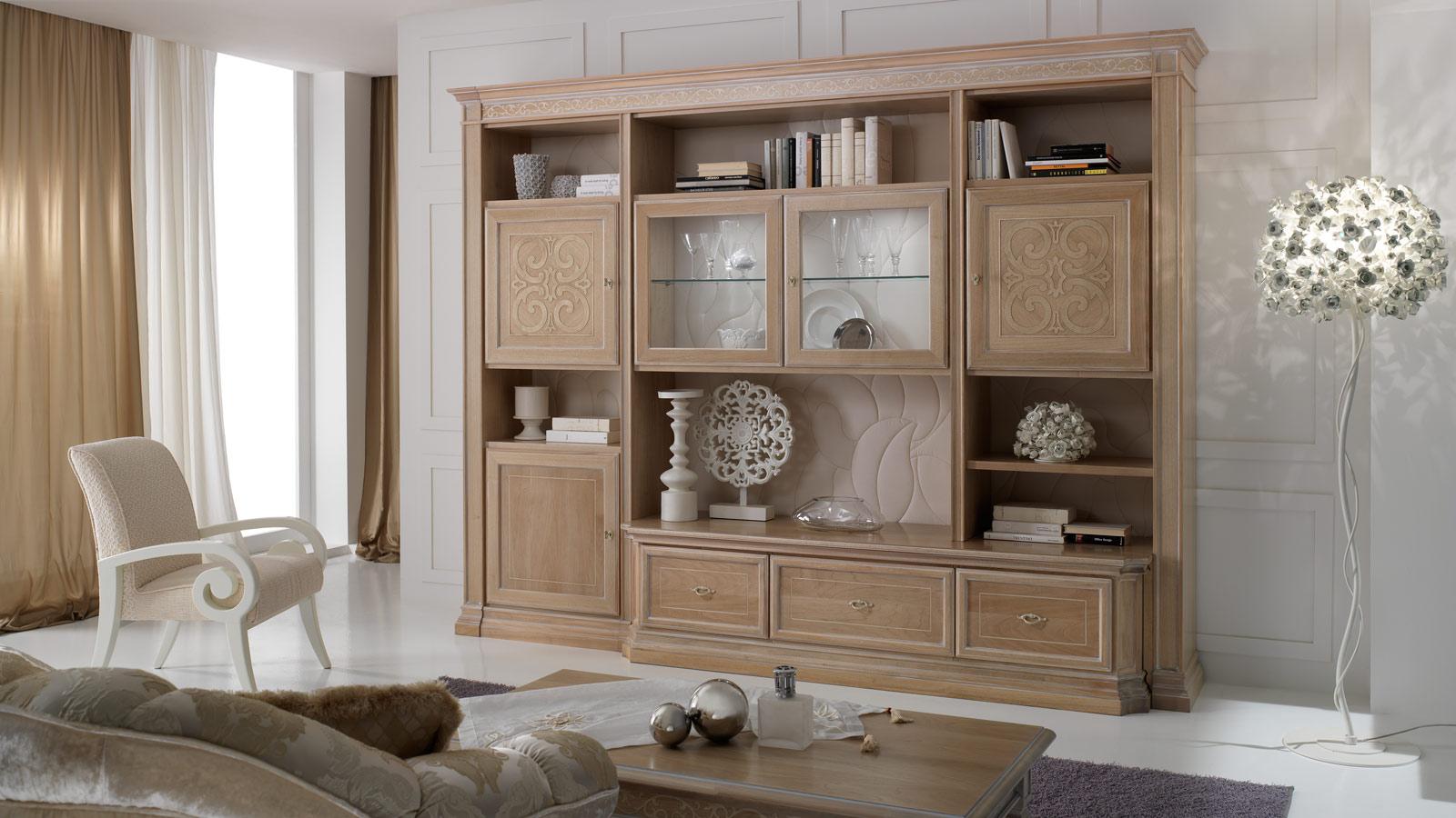 Soggiorni classici rosy mobili mobilificio nichelino - Mobili per sala da pranzo classici ...