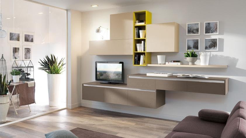 Cucine E Saloni Moderni - salotto open space con parquet e divani ...